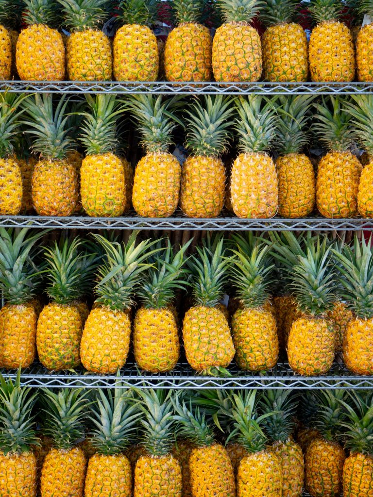 Pineapples in Hawaii